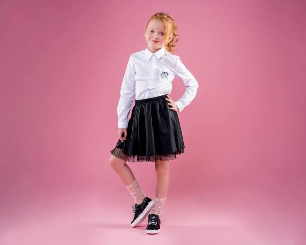 Девочка обута в детские кеды Woopy Orthopedic черные (4270) Фото 1
