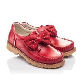 Детские туфли Woopy Orthopedic красные для девочек натуральная кожа размер 25-34 (4271) Фото 1