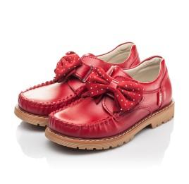 Детские туфли Woopy Orthopedic красные для девочек натуральная кожа размер 25-34 (4271) Фото 3