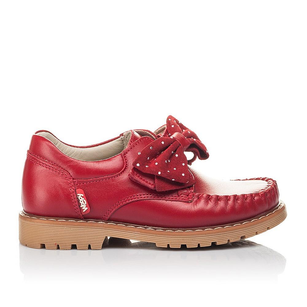 Детские туфли Woopy Orthopedic красные для девочек натуральная кожа размер 25-34 (4271) Фото 4