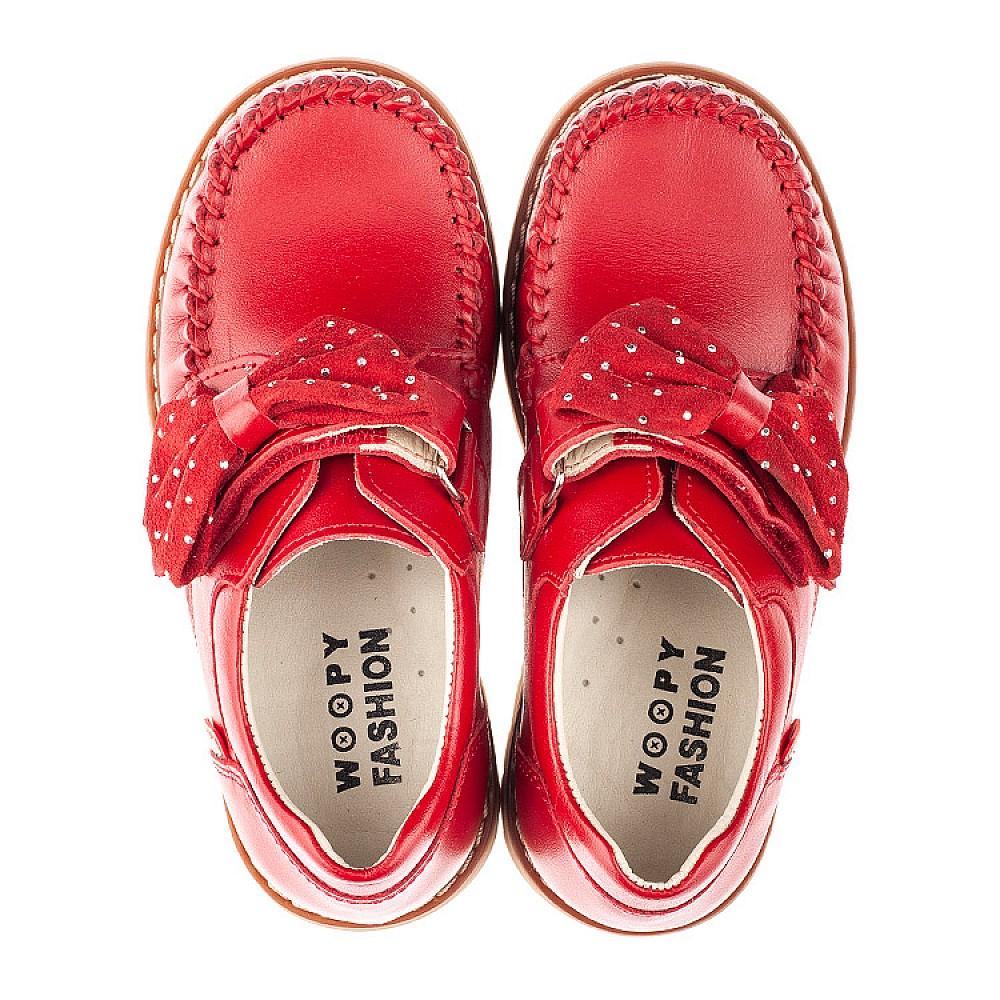 Детские туфли Woopy Orthopedic красные для девочек натуральная кожа размер 25-34 (4271) Фото 5