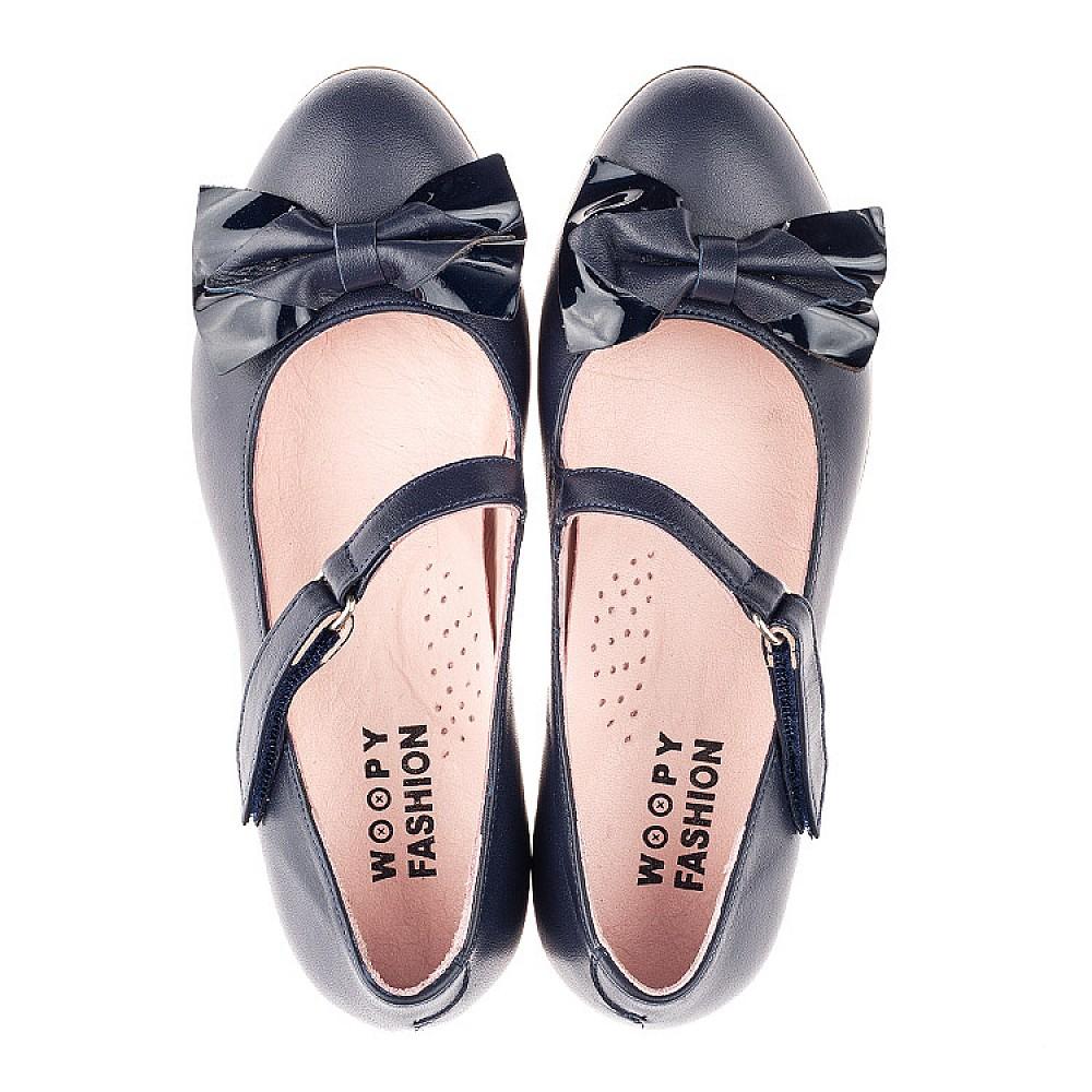 Детские туфли Woopy Orthopedic синие для девочек натуральная кожа размер 30-39 (4274) Фото 5