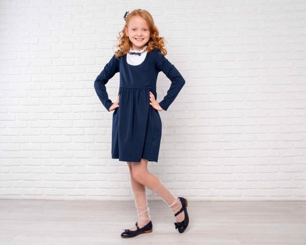 Девочка обута в детские туфли Woopy Orthopedic синие (4274) Фото 1