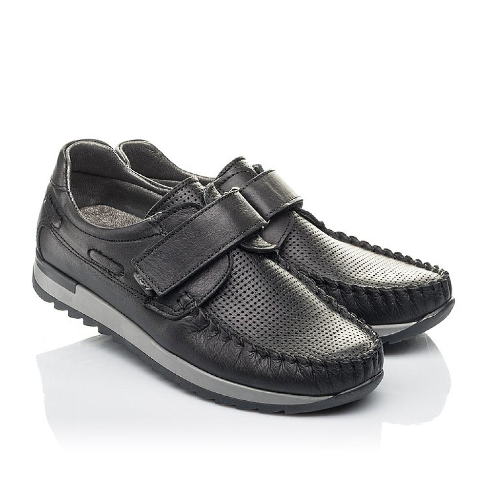 Детские туфли Woopy Orthopedic черные для мальчиков натуральная кожа размер 30-39 (4275) Фото 1
