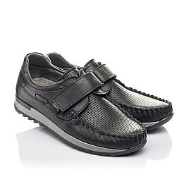 Детские туфлі Woopy Orthopedic черные для мальчиков натуральная кожа размер 30-39 (4275) Фото 1