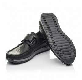 Детские туфлі Woopy Orthopedic черные для мальчиков натуральная кожа размер 30-39 (4275) Фото 2