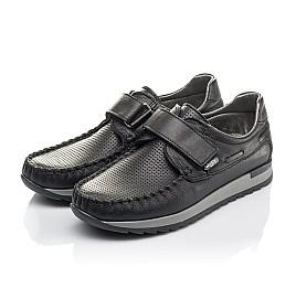 Детские туфлі Woopy Orthopedic черные для мальчиков натуральная кожа размер 30-39 (4275) Фото 3
