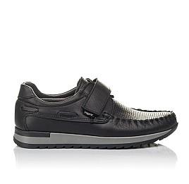 Детские туфли Woopy Orthopedic черные для мальчиков натуральная кожа размер 30-39 (4275) Фото 4