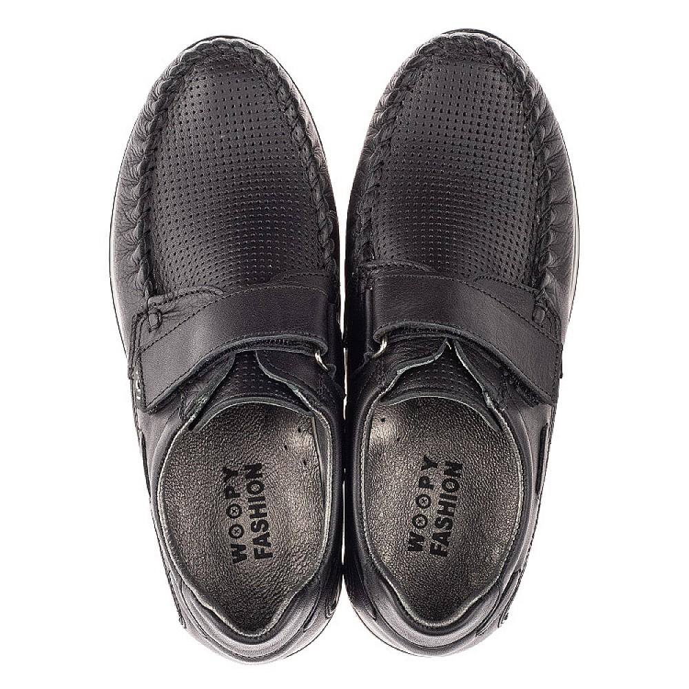 Детские туфли Woopy Orthopedic черные для мальчиков натуральная кожа размер 30-39 (4275) Фото 5
