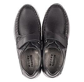 Детские туфлі Woopy Orthopedic черные для мальчиков натуральная кожа размер 30-39 (4275) Фото 5
