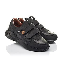 Детские кроссовки Woopy Orthopedic черные для мальчиков натуральная кожа и нубук размер 30-40 (4277) Фото 1