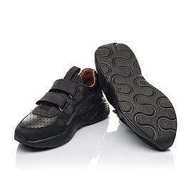 Детские кроссовки Woopy Orthopedic черные для мальчиков натуральная кожа и нубук размер 30-40 (4277) Фото 2