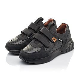 Детские кроссовки Woopy Orthopedic черные для мальчиков натуральная кожа и нубук размер 30-40 (4277) Фото 3