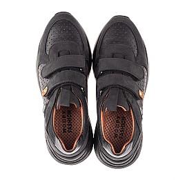 Детские кроссовки Woopy Orthopedic черные для мальчиков натуральная кожа и нубук размер 30-40 (4277) Фото 5