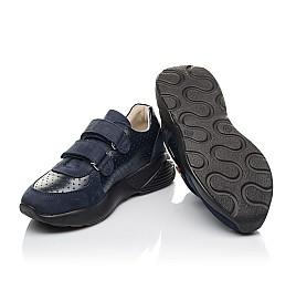 Детские кроссовки Woopy Orthopedic синие для мальчиков натуральная кожа и нубук размер 27-38 (4278) Фото 2