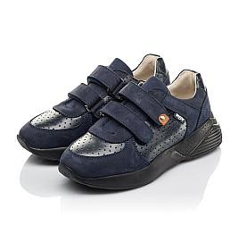 Детские кроссовки Woopy Orthopedic синие для мальчиков натуральная кожа и нубук размер 27-38 (4278) Фото 3