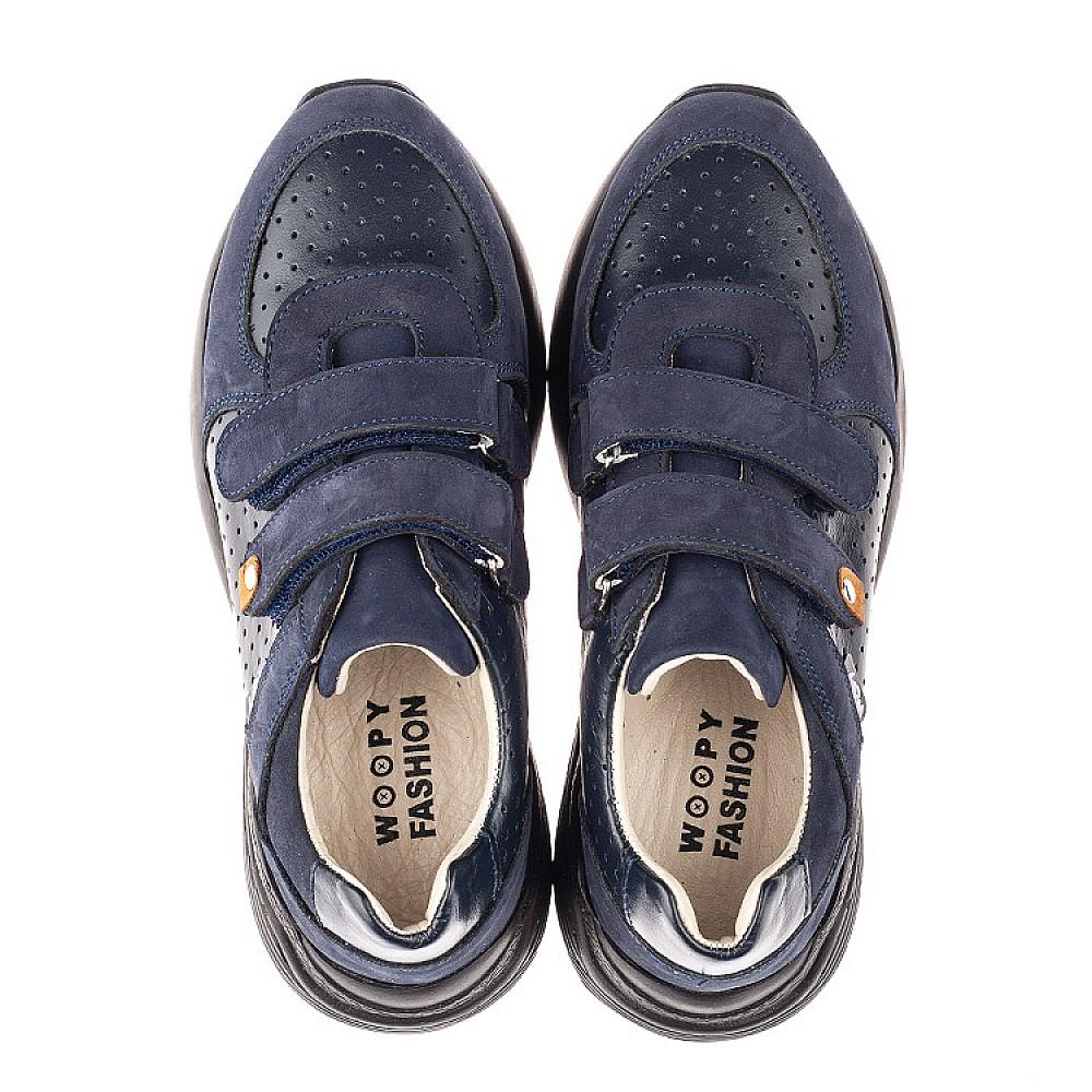 Детские кроссовки Woopy Orthopedic синие для мальчиков натуральная кожа и нубук размер 27-38 (4278) Фото 5