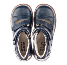 Детские ортопедичні туфлі (з високим берцями) Woopy Orthopedic синие для мальчиков натуральная кожа размер 30-36 (4279) Фото 5