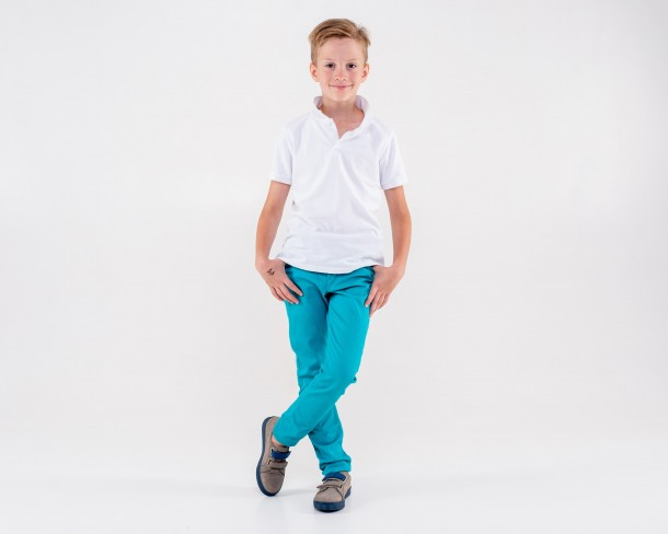Мальчик обут в детские кеды Woopy Orthopedic серые (4280) Фото 1
