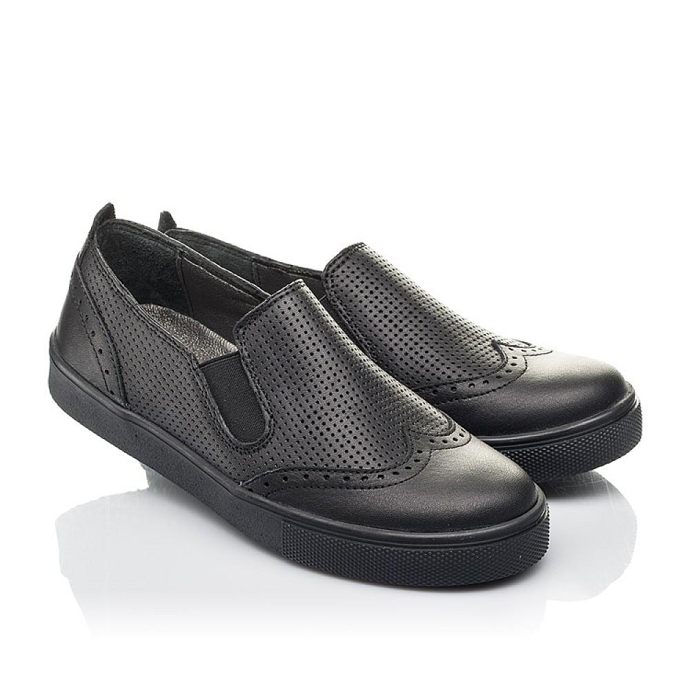Детские туфли Woopy Orthopedic черные для мальчиков натуральная кожа размер 31-39 (4281) Фото 1