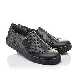 Детские туфли Woopy Orthopedic черные для мальчиков натуральная кожа размер 31-38 (4281) Фото 1