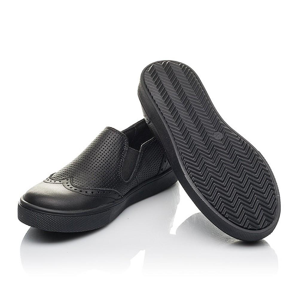 Детские туфли Woopy Orthopedic черные для мальчиков натуральная кожа размер 31-39 (4281) Фото 2