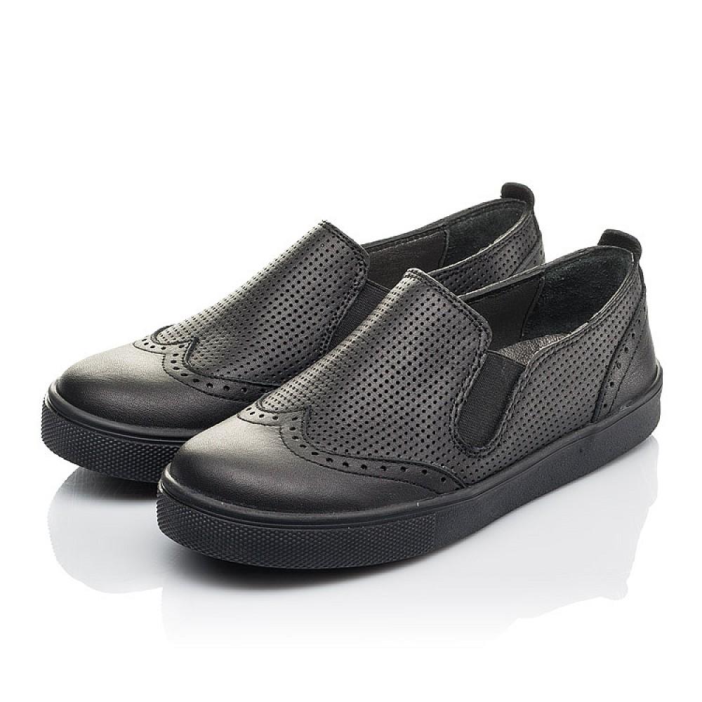 Детские туфли Woopy Orthopedic черные для мальчиков натуральная кожа размер 31-39 (4281) Фото 3