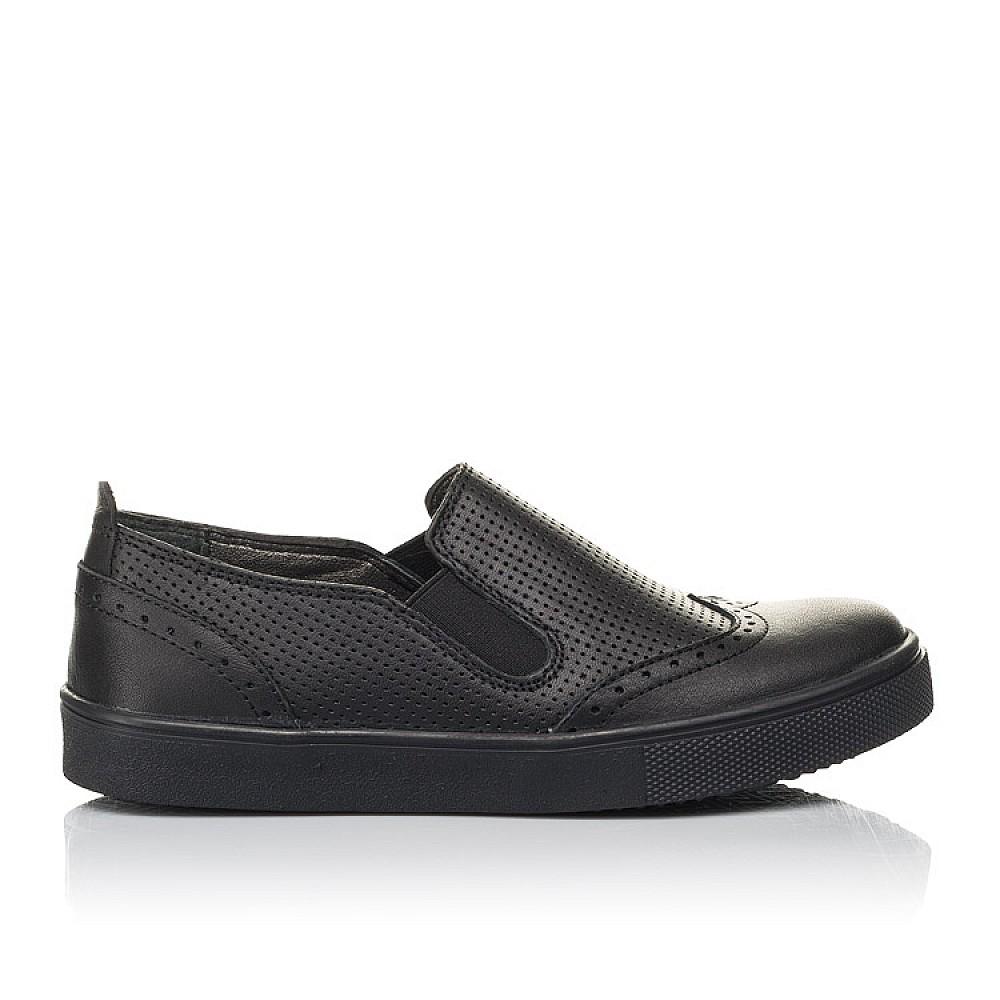 Детские туфли Woopy Orthopedic черные для мальчиков натуральная кожа размер 31-39 (4281) Фото 4