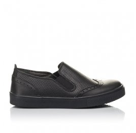 Детские туфлі Woopy Orthopedic черные для мальчиков натуральная кожа размер 31-38 (4281) Фото 4