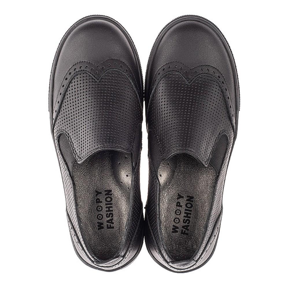 Детские туфли Woopy Orthopedic черные для мальчиков натуральная кожа размер 31-39 (4281) Фото 5