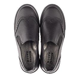 Детские туфли Woopy Orthopedic черные для мальчиков натуральная кожа размер 31-38 (4281) Фото 5