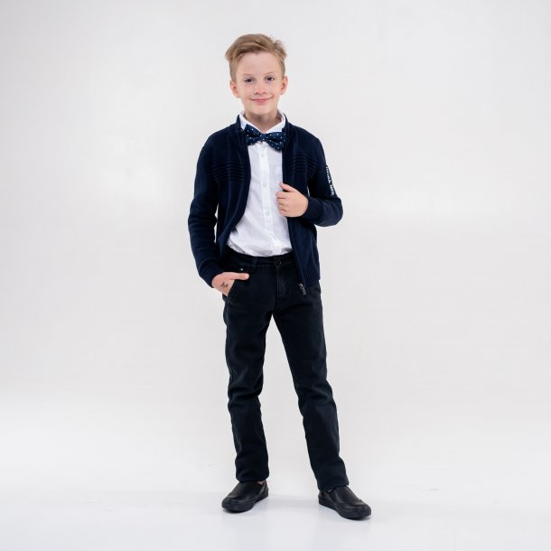 Мальчик обут в детские туфли Woopy Orthopedic черные (4281) Фото 1