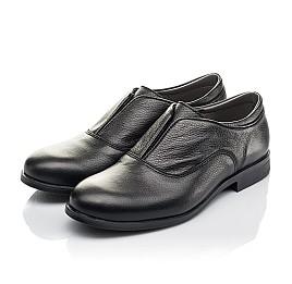 Детские туфли Woopy Orthopedic черные для мальчиков натуральная кожа размер 33-39 (4282) Фото 3