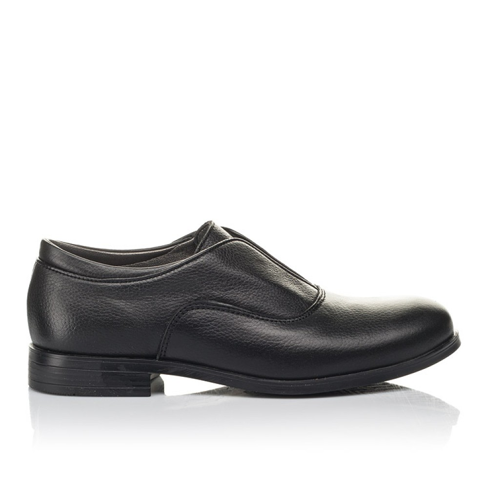 Детские туфли Woopy Orthopedic черные для мальчиков натуральная кожа размер 33-39 (4282) Фото 4