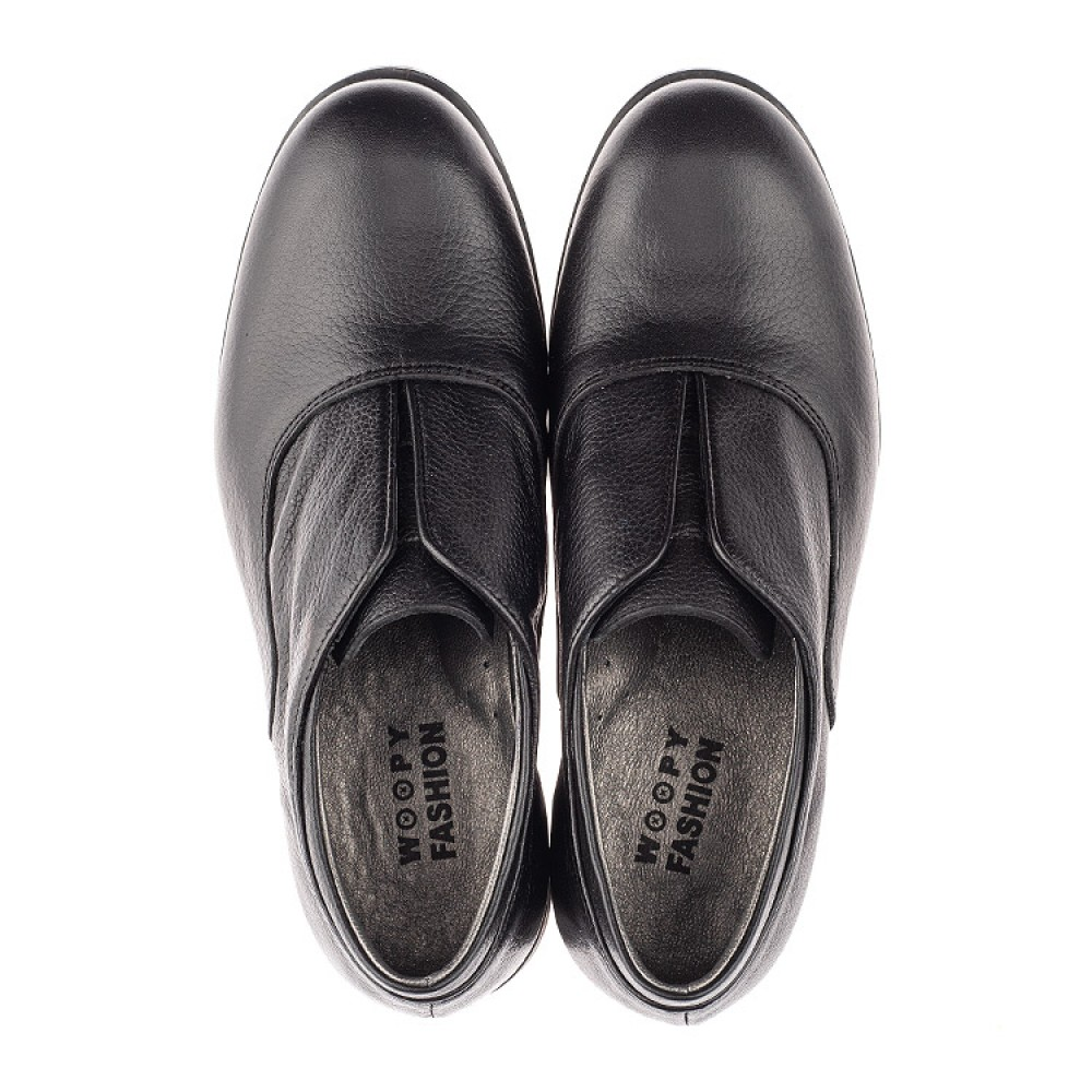 Детские туфли Woopy Orthopedic черные для мальчиков натуральная кожа размер 33-39 (4282) Фото 5