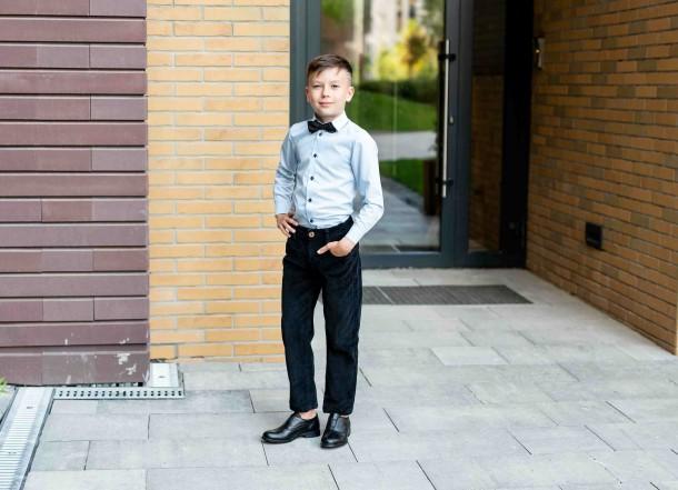 Мальчик обут в детские туфли Woopy Orthopedic черные (4282) Фото 1