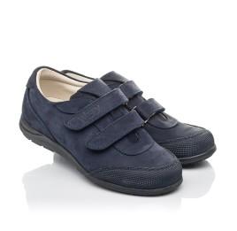 Детские туфли Woopy Orthopedic синие для мальчиков натуральный нубук размер 31-33 (4283) Фото 1