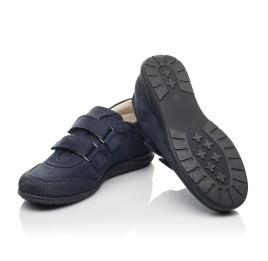 Детские туфли Woopy Orthopedic синие для мальчиков натуральный нубук размер 31-36 (4283) Фото 2