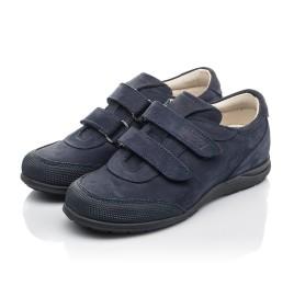 Детские туфли Woopy Orthopedic синие для мальчиков натуральный нубук размер 31-36 (4283) Фото 3