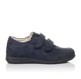 Детские туфли Woopy Orthopedic синие для мальчиков натуральный нубук размер 31-36 (4283) Фото 4