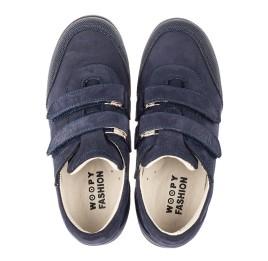 Детские туфли Woopy Orthopedic синие для мальчиков натуральный нубук размер 31-36 (4283) Фото 5