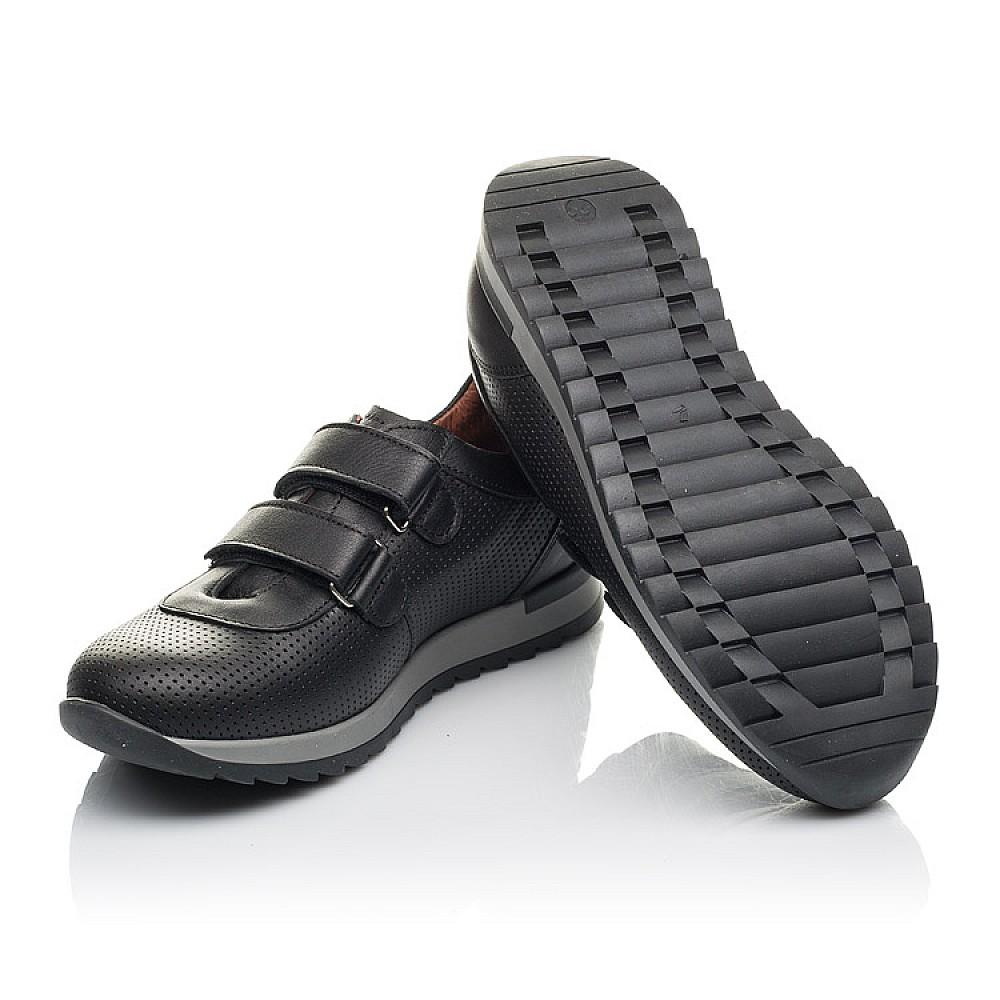 Детские кроссовки Woopy Orthopedic черные для мальчиков натуральная кожа размер 32-38 (4284) Фото 2