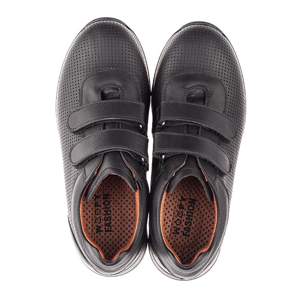 Детские кроссовки Woopy Orthopedic черные для мальчиков натуральная кожа размер 32-38 (4284) Фото 5