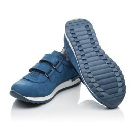 Детские кроссовки Woopy Orthopedic голубые для мальчиков натуральный нубук размер 21-33 (4285) Фото 2
