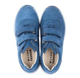 Детские кроссовки Woopy Orthopedic голубые для мальчиков натуральный нубук размер 21-33 (4285) Фото 5