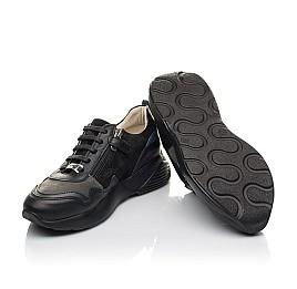 Детские кроссовки Woopy Orthopedic черные для мальчиков натуральная кожа, нубук и замша размер 31-38 (4286) Фото 2