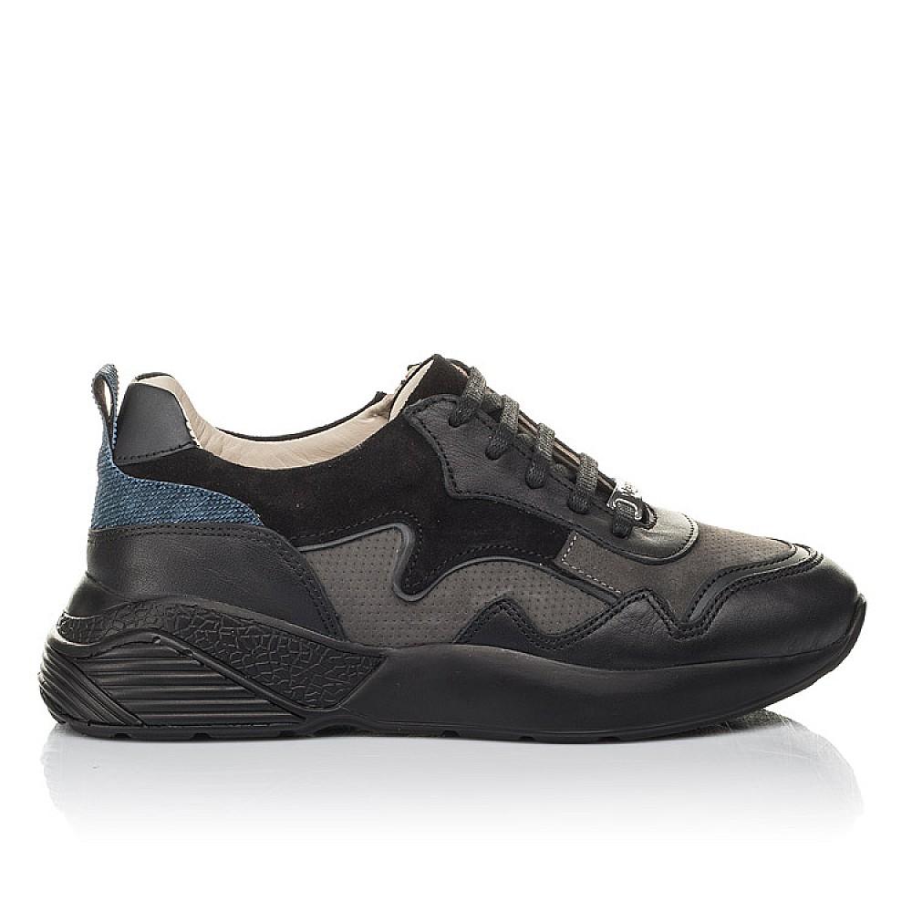 Детские кроссовки Woopy Orthopedic черные для мальчиков натуральная кожа, нубук и замша размер 31-38 (4286) Фото 4