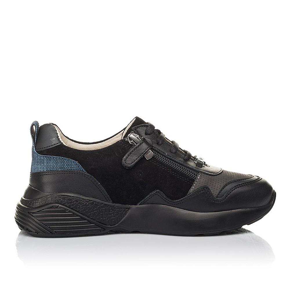 Детские кроссовки Woopy Orthopedic черные для мальчиков натуральная кожа, нубук и замша размер 31-38 (4286) Фото 5