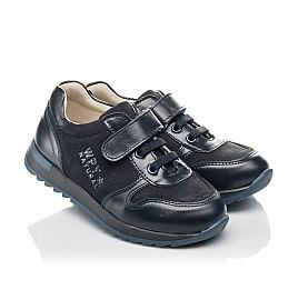 Детские кроссовки Woopy Orthopedic синие для мальчиков натуральная кожа и нубук размер 26-35 (4287) Фото 1