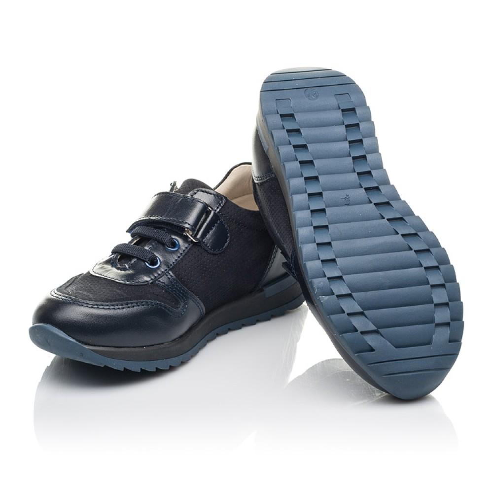 Детские кроссовки Woopy Orthopedic синие для мальчиков натуральная кожа и нубук размер 26-36 (4287) Фото 2